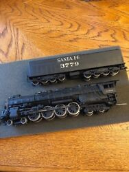 Ho Scale Brass United Santa Fe 4-8-4 Painted Northern Locomotive With Tender