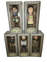 Duck Dynasty 5 Bobble Head Set Willie Phil Si Jase And Kay Robertson Nib