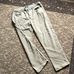 Lands End Mens 37 Jeans Square Rigger Traditional Fit Tan Brown Denim 37x30 Nwt