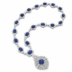 Necklace 925 Sterling Silver Blue Cabochon Highend Statement Necklace Women