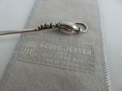 Georg Jensen Denmark Sterling Silver Iced Tea Mint Julep Blossom Spoon And Pouch