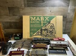 New York Central Steam Type Electric Train Set Loco Cars Track Louis Marx And Co