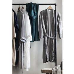 Japanese Style Simple Pajamas For Men And Women Couples Home Service Bathrobes