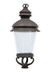 19th Century French Large Copper And Glass Lantern
