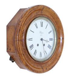 19th Century French Oak Japy Freres Wall Clock Valogne Paris