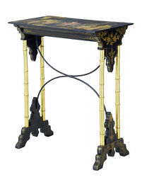 Late 19th Century Japanese Black Lacquer And Gilt Occasional Table