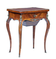 19th Century French Kingwood Sewing Table