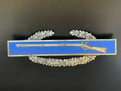 Sterling Silver Enamel Combat Army Infantry/special Forces Badge With Wreath