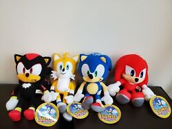 Sonic The Hedgehog Tails Knuckles Shadow Plush Doll Stuffed Toy Authentic Sega