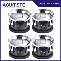 4 Dashboard Ac Heater Air Vent Chrome Oem 9l3z19893ca For 2008-14 Ford F-150