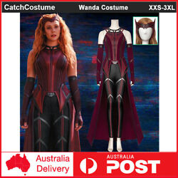 Wanda Maximoff Scarlet Witch Cosplay Costume Uniform Full Outfit Book Week Party