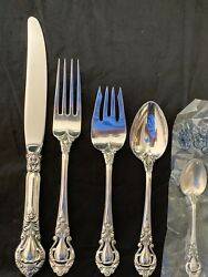 Stieff Royal Dynasty Sterling Flatware Set For 8 With 5 Pieces Per And Servers