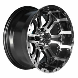 Set Of 4 Gtw Omega 12 Inch Machined / Black Golf Cart Wheels With 34 Offset