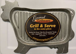 Wilton Armetale Gourmet Grillware Grill And Serve Metal Cow Grillware Pan Nwt
