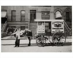 New York Photo Art Print 14th Street Park Slope Bordens Milk Wagon Horse Drawn