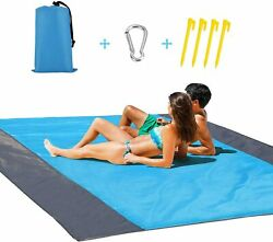 LARGE SIZE Waterproof Beach Mat Picnic Camping Blanket Foldable For 4 6 People $14.96