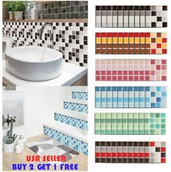 10PCS Kitchen Tile Sticker Bathroom Mosaic Sticker Self adhesive Wall Home Decor
