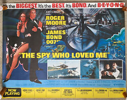 The Spy Who Loved Me 1977 Lot Of 3 Original Subway Rolled Movie Posters 007