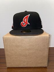 Cleveland Indians Cooperstown Collection Fitted Glow In The Dark Size 7 3/8
