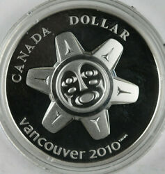 2010 Proof Canada Vancouver Olympics The Sun .925 Silver Round With Box And Coa