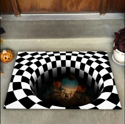 It Illusion Doormat Halloween Decor Mat Halloween Decorations For Home Party