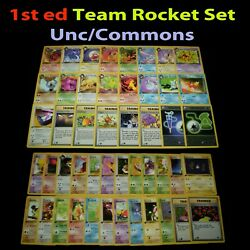 Lp/nm 1st Edition Complete Pokemon Team Rocket Set Card Uncommon/common First Ed
