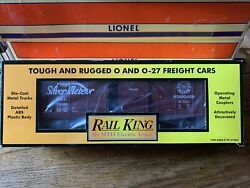 Mth Rail King 30-7449 Seaboard Rounded Roof Box Car. Silver Meteor