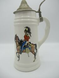Collectible Rare Royal Military Officer Horse Guard Japanese Beer Stein