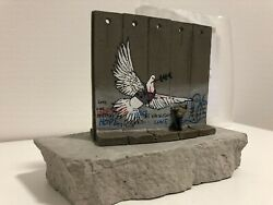 Banksy Walled Off Hotel Sculpture Colomba Dove Wall Section Scultura Muro