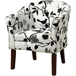 Upholstered Accent Chair Multi-color And Cappuccino Red/white/grey
