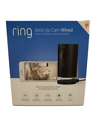 New Ring Smart Home Wired Indoor Outdoor Stick Up Security Camera Black Sealed