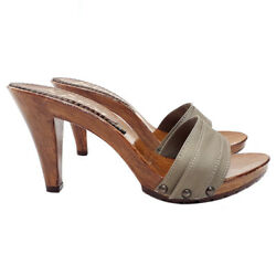Kiara Shoes Mule Heel 9 Made In Italy From 35 Al 42 - K6101 Taupe