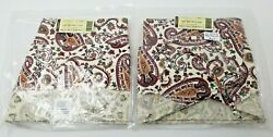 Longaberger Picnic Chelsea Paisley Large Serving Tray Liners Brand New In Bag