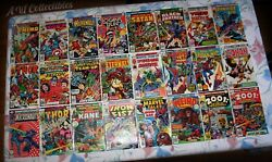 Vintage Bronze Age Mixed Marvel Comic Book Lot Of 24 Books Fn/vf Spider Man