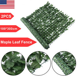 Artificial Fake Maple Leaf Foliage Privacy Fence Screen Garden Panel Hedge Decor