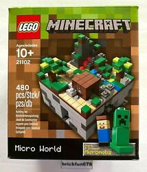 Lego Ideas Cuusoo 003 21102 Minecraft Micro World The Forest New Factory Box