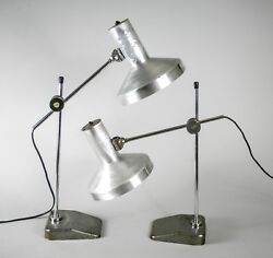 Pair Of French Modernist Desk Lamp Jumo Perriand Adnet 1970