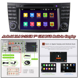 7'' Android 10.0 Stereo Radio Gps Dvd Wifi For Carplay For Benz W211 W219 W463