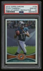 2012 Ryan Tannehill Psa 10 Topps Chrome Refractor Rookie Rc 109 Low Pop4 Wow