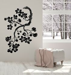 Vinyl Wall Decal Branch Flowers Store Floral Pattern Bouquet Stickers G5123