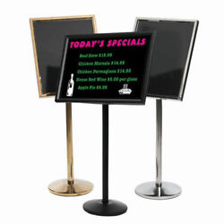 Aarco Small Dual Capability Neon Mb And Menu/poster Holder Black - 24w X 20h