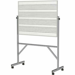 Ghentand174 Reversible Porcelain Magnetic Whiteboard W/2 Sides Music Staff