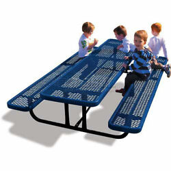 8and039 Rectangular Childand039s Picnic Table Blue