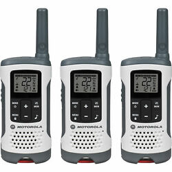 Motorola Talkabout And174 Rechargeable Two-way Radios, White, 3 Pack