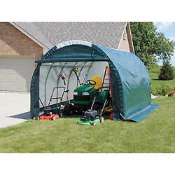 Mini Garage/storage Shed Green 10and039w X 8and039h X 18and039l