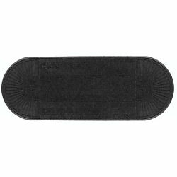Waterhog Eco Grand Elite Two Ends Entrance Mat 6and039 X 22and0394 X 3/8 Black Smoke