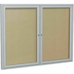 Ghentand174 Outdoor Enclosed Satin Bulletin Board - 60w X 48h
