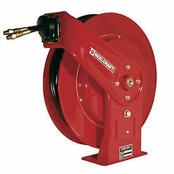 Twin Hydraulic Spring Retractable Hose Reel 3/8 X 30and039 Hose 2000 Psi