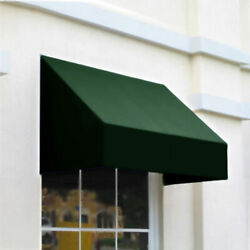 Awntech Window/entry Awning 8and039 4 -1/2w X 4and039d X 3and039 8h Forest Green