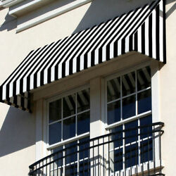 Awntech Window/entry Awning 8and039 4 -1/2w X 4and039d X 4and039 8h Black/white